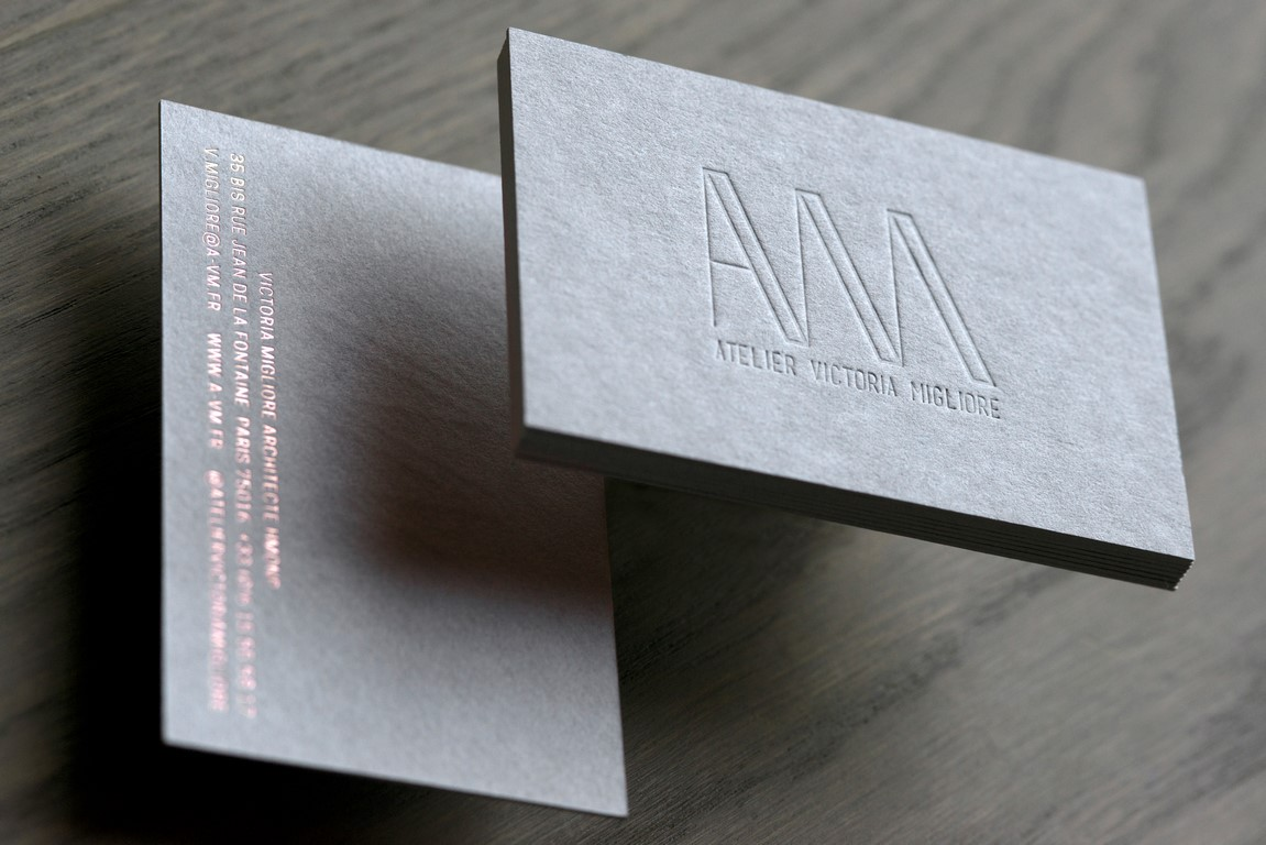Carte de visite architecte carton gris (1)