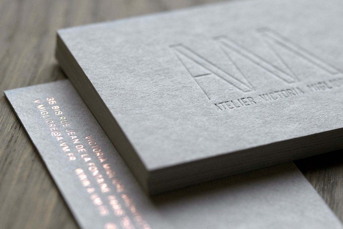 Carte de visite architecte carton gris (2)