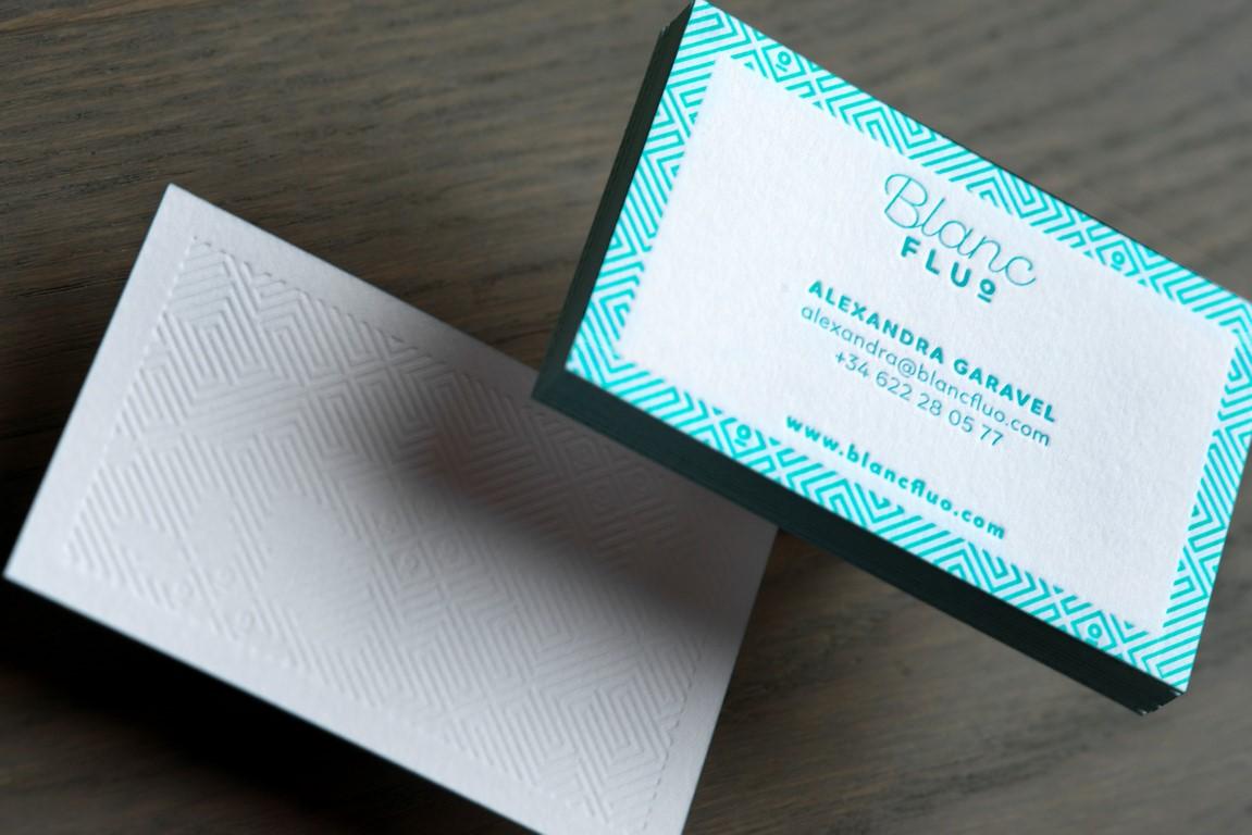 Carte de visite letterpress blanc fluo (1)