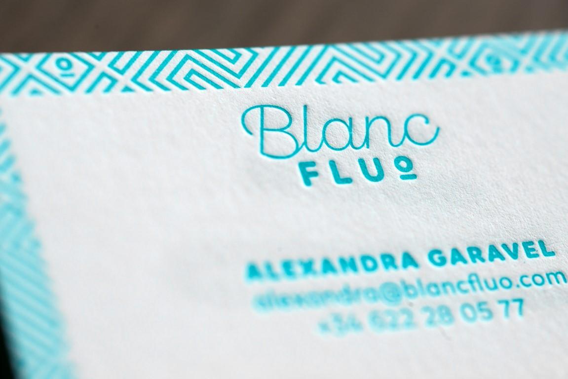 Carte de visite letterpress blanc fluo (3)