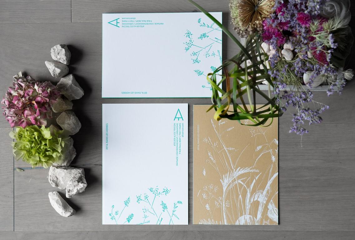 Carte de voeux sur papier kraft (1)