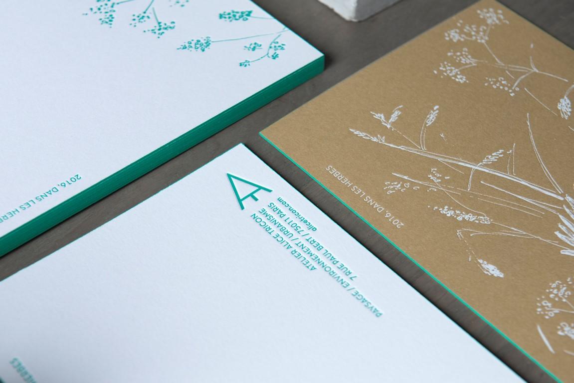 Carte de voeux sur papier kraft (2)