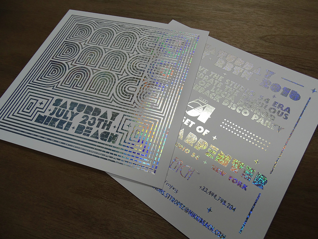 Impression carton d'invitation holographique - Spind