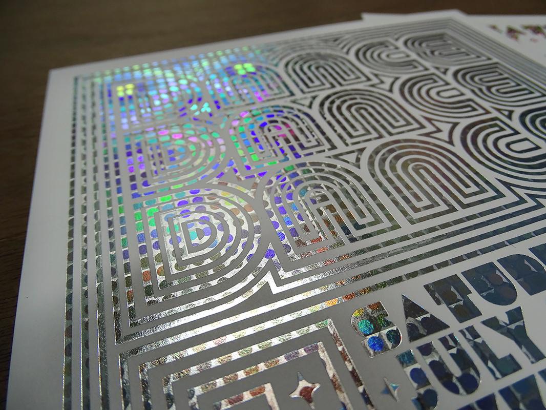 Carton invitation holographique (3)