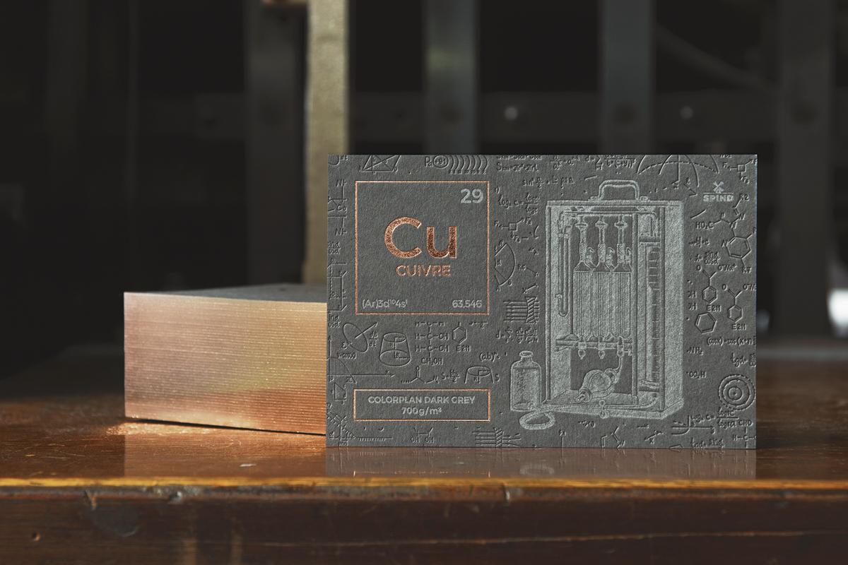 Carte dorure sur tranche - Colorplan Dark Grey