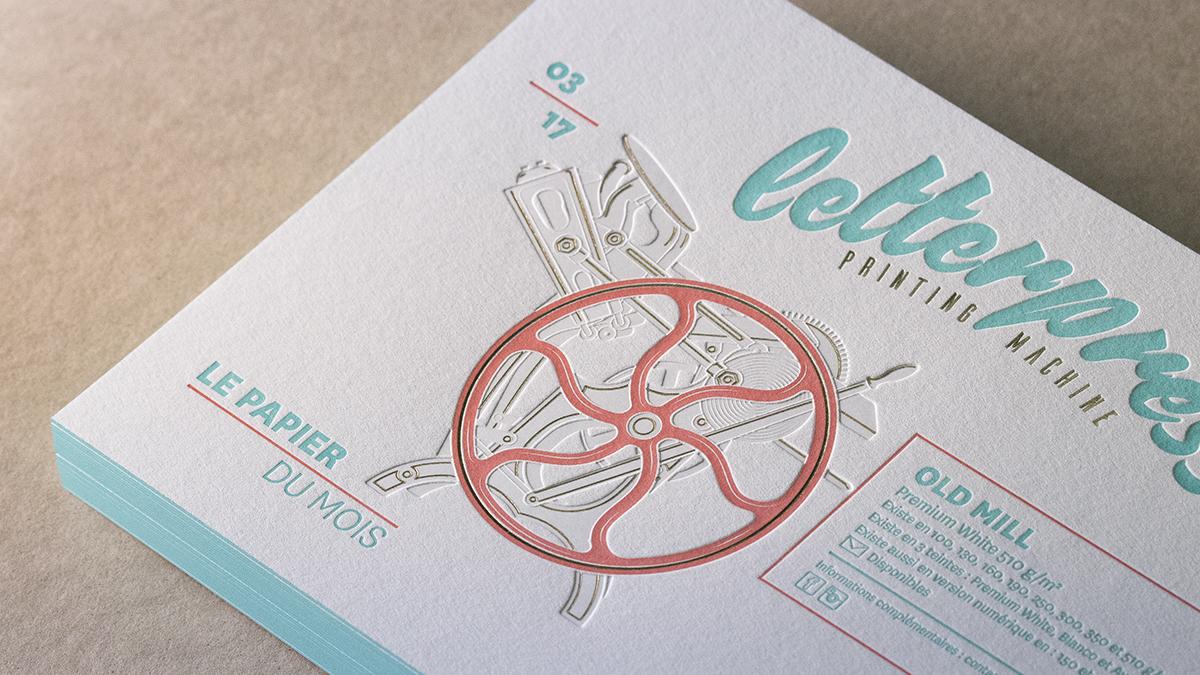 Carton en letterpress