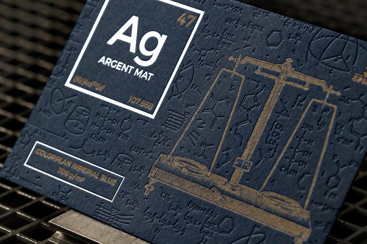 Carte Letterpress - Colorplan Imperial Blue