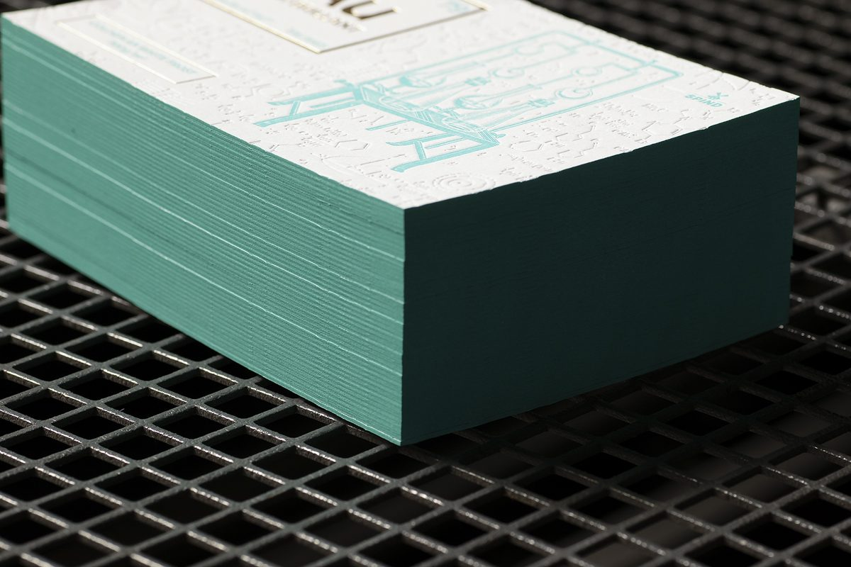 Cartes Letterpress - Colorplan White Frost