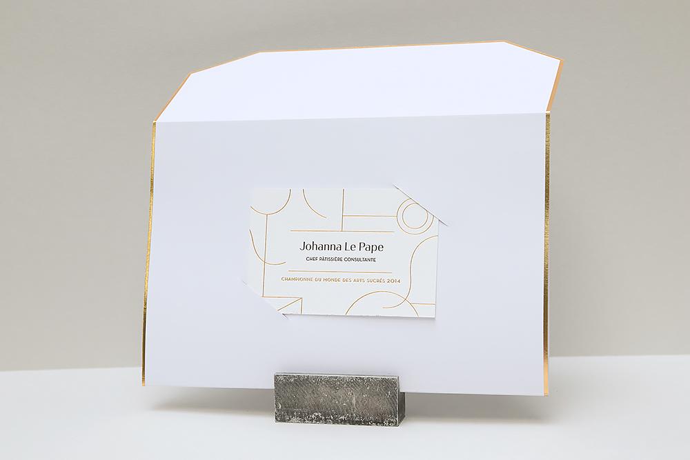 Invitation en forme d'enveloppe