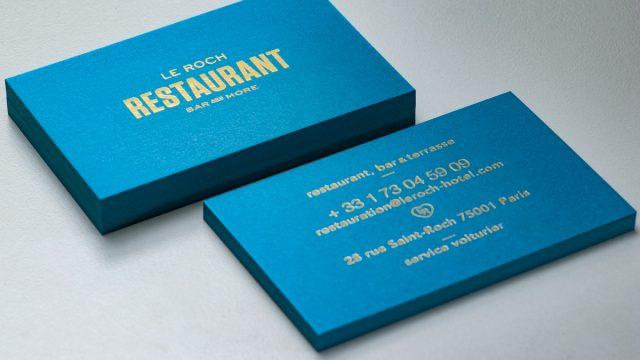Carte de visite haut de gamme pour un restaurant