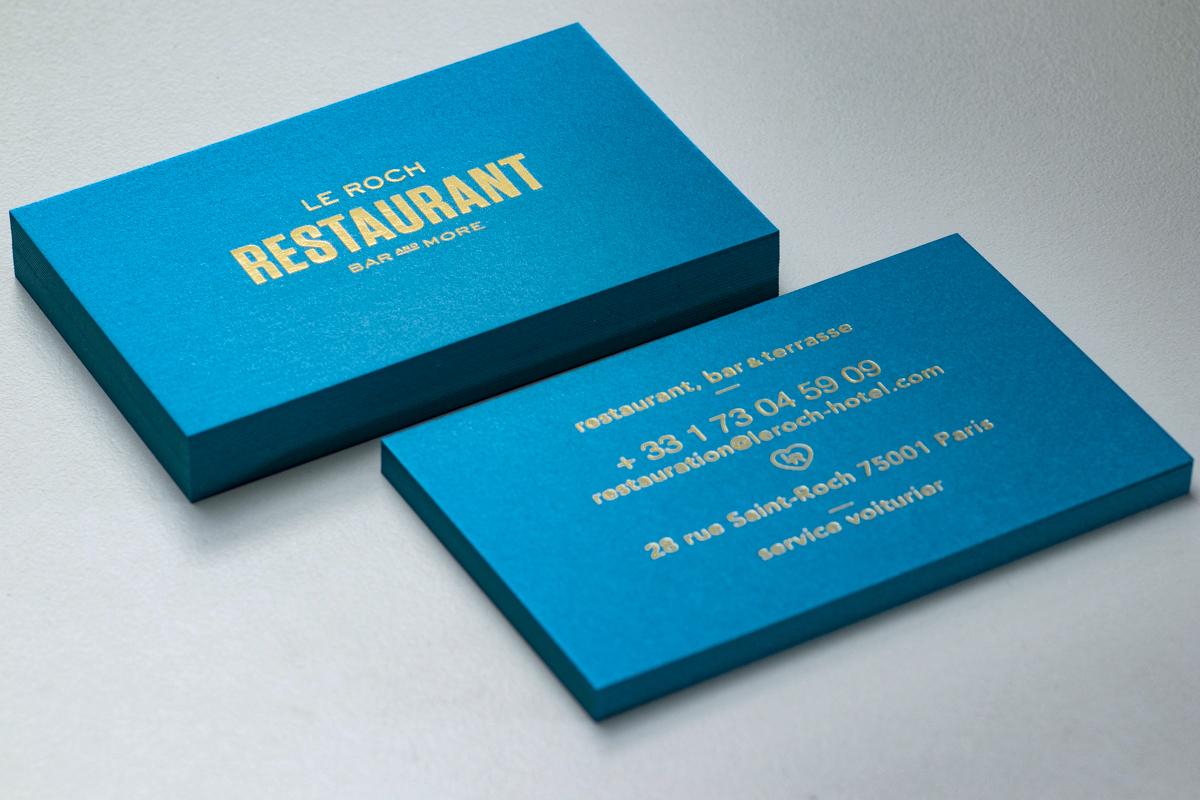 Carte De Visite Elegante Pour Un Restaurant
