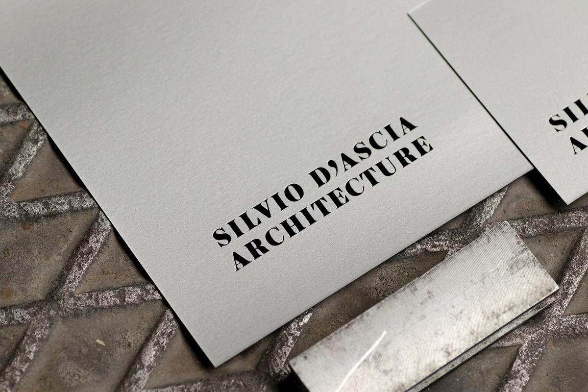 Papeterie design pour cabinet d'architecte
