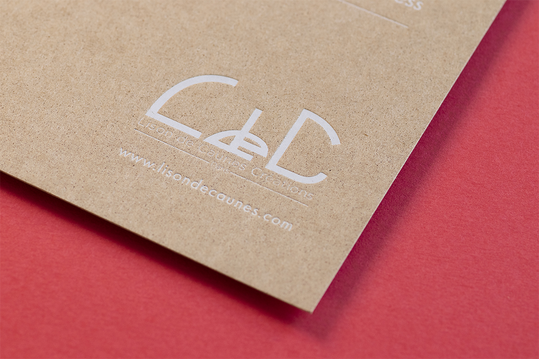 Carte de vœux sur papier kraft