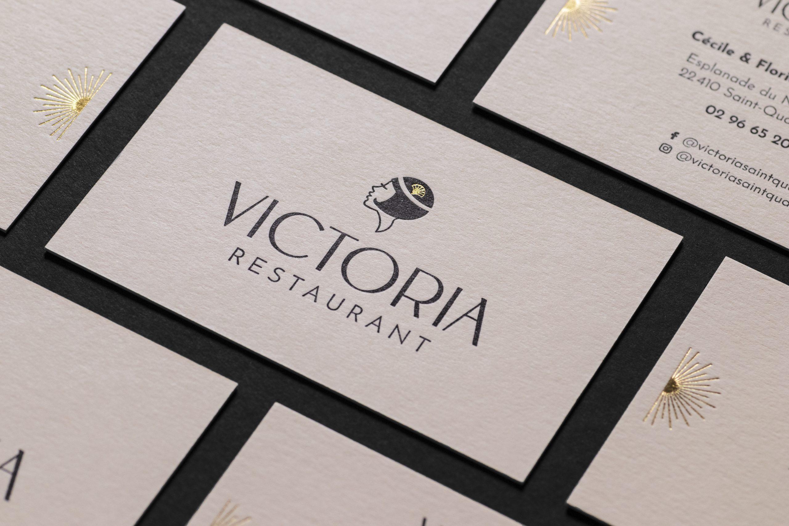 Carte de visite Restaurant en bord de mer