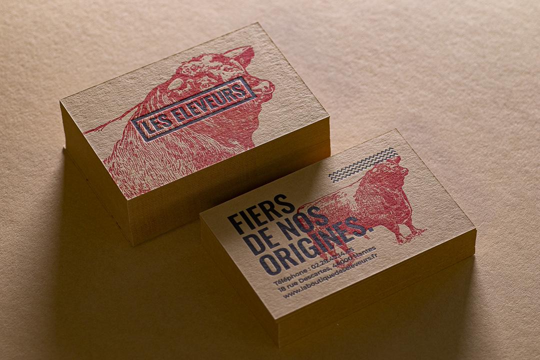 Letterpress sur papier Kraft